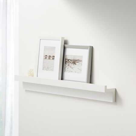 Outstanding Carren 36 Floating White Ledge Shelf With Lip Reviews Crate And Barrel Download Free Architecture Designs Embacsunscenecom