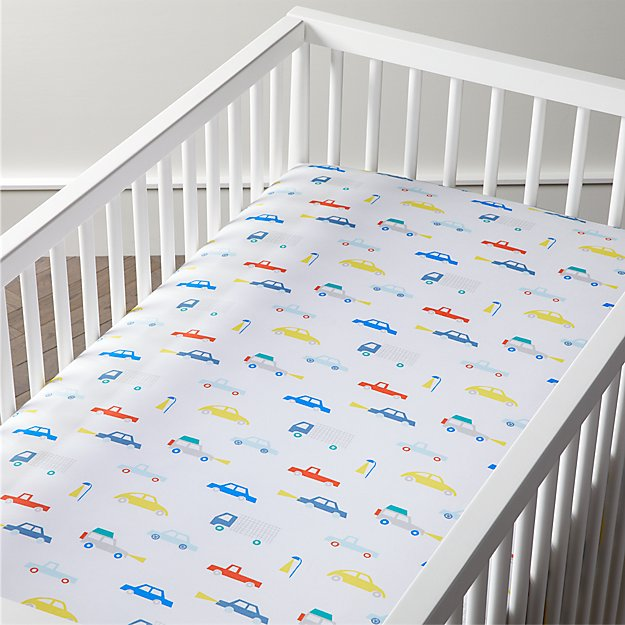 Organic Cars Crib Fitted Sheet Reviews Crate And Barrel