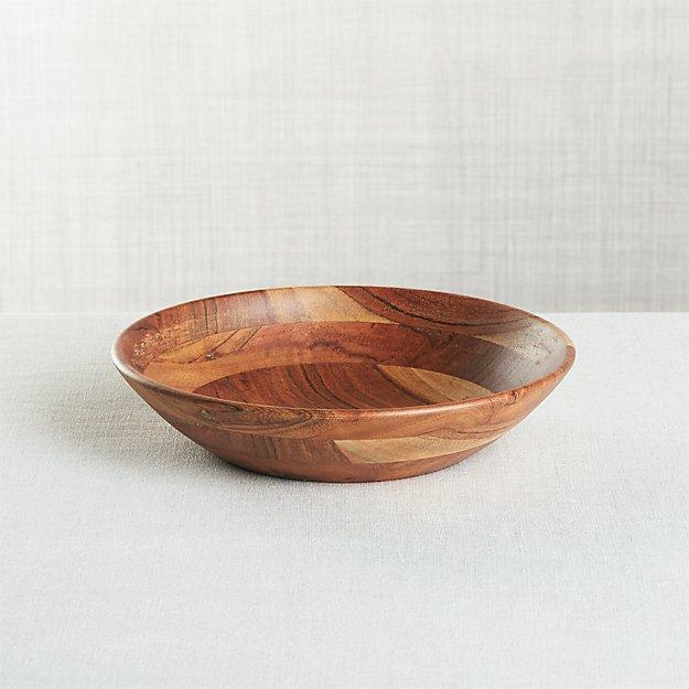 Carson Individual Acacia Bowl - Image 1 of 2