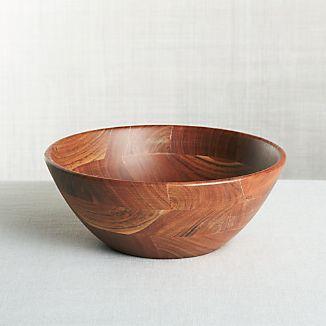 Acacia Wood Bowls Crate And Barrel