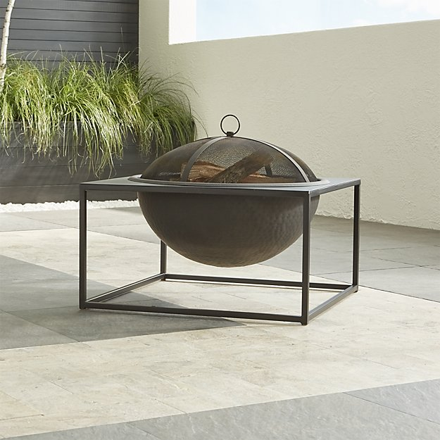 - Carswell Large Fire Pit + Reviews Crate And Barrel