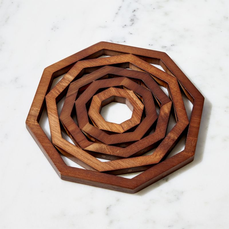 Carter Acacia Wood Trivet Reviews Crate And Barrel