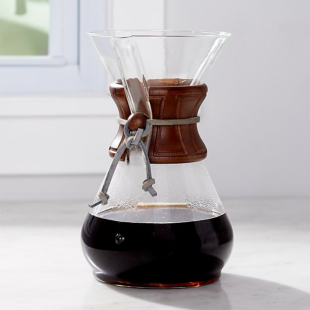 Carter Chemex 8-Cup Coffeemaker with Wood Collar