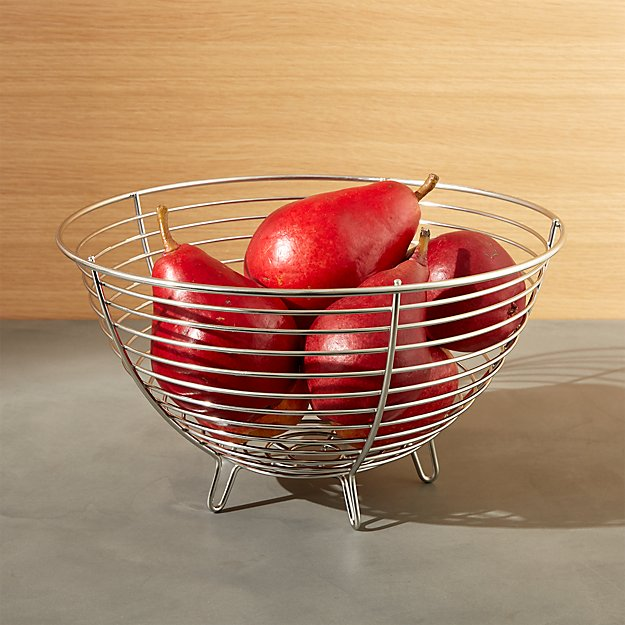 Carter Stainless Wire Fruit Basket - Image 1 of 5