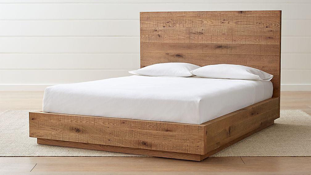 Cas Queen Oak Bed - Image 1 of 9