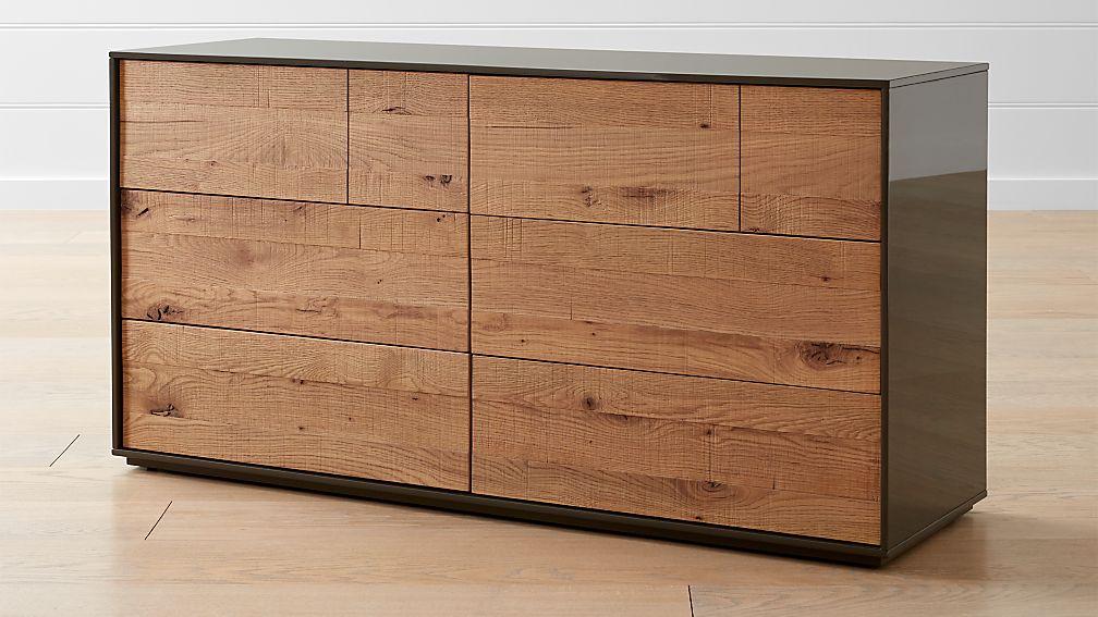 Cas 6 Drawer Modern Rustic Dresser Reviews Crate And Barrel