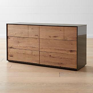 Cas 6-Drawer Modern Rustic Dresser