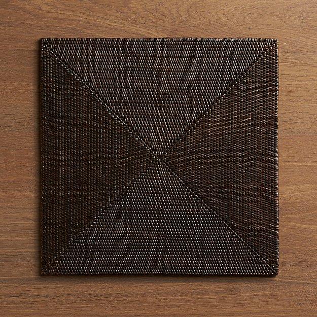 casablanca square placemat crate and barrel. Black Bedroom Furniture Sets. Home Design Ideas