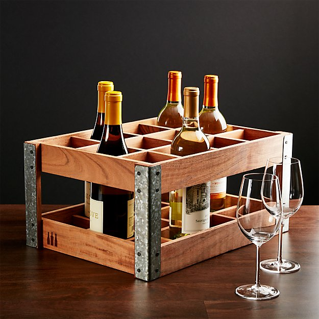 crate wine rack wine rack crate and barrel 30215