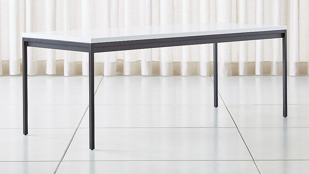 Casement Black Solid Surface Dining Table - Image 1 of 6