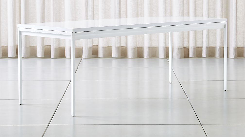 Casement White Solid Surface Dining Table - Image 1 of 6