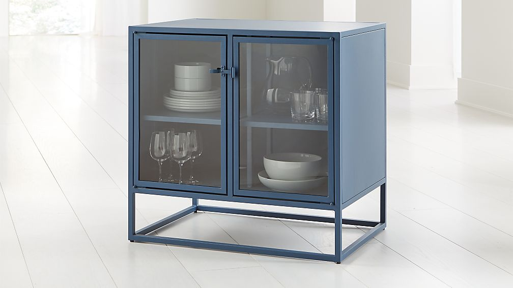 Casement Blue Small Metal Sideboard - Image 1 of 8