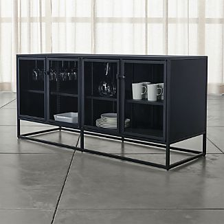 Casement Black Large Sideboard