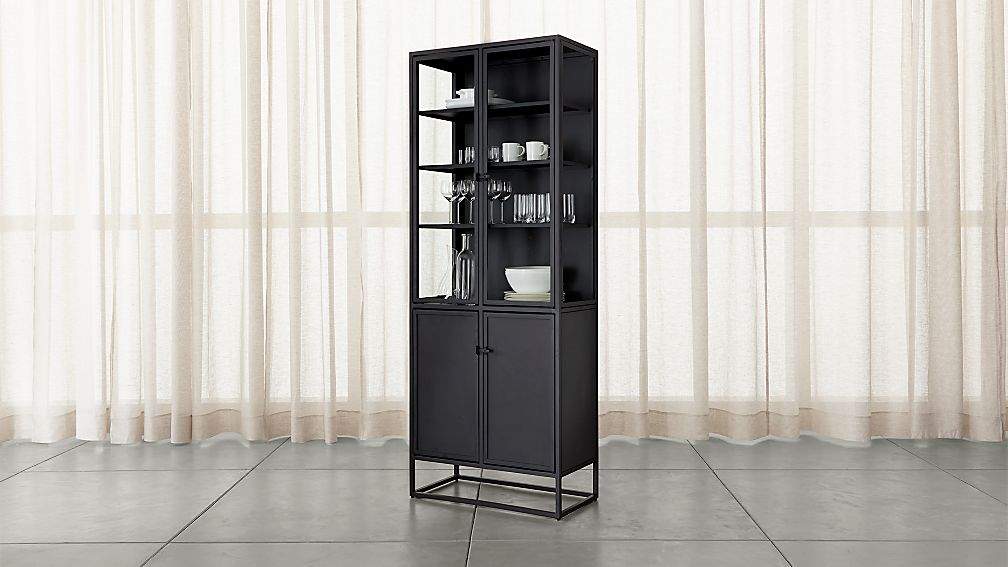 tall glass cabinet casement black cabinet reviews crate and barrel 27010