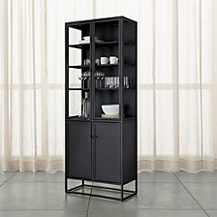 Casement Black Tall Cabinet Crate And Barrel