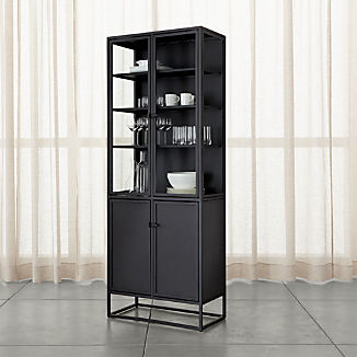 Incroyable Casement Black Tall Cabinet
