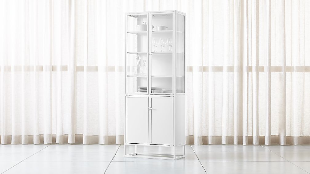 Casement White Tall Metal Cabinet - Image 1 of 10