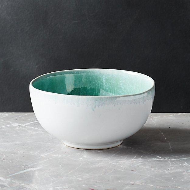 Caspian Aqua Reactive Glaze Cereal Bowl - Image 1 of 6