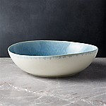 Caspian Blue Reactive Glaze Serving Bowl