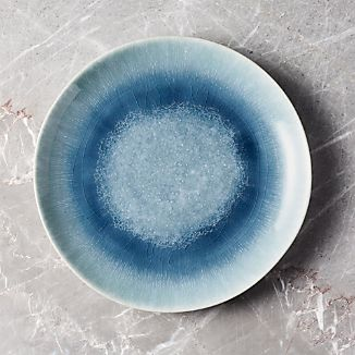 Caspian Blue Reactive Glaze Dinner Plate & Glazed Plates | Crate and Barrel