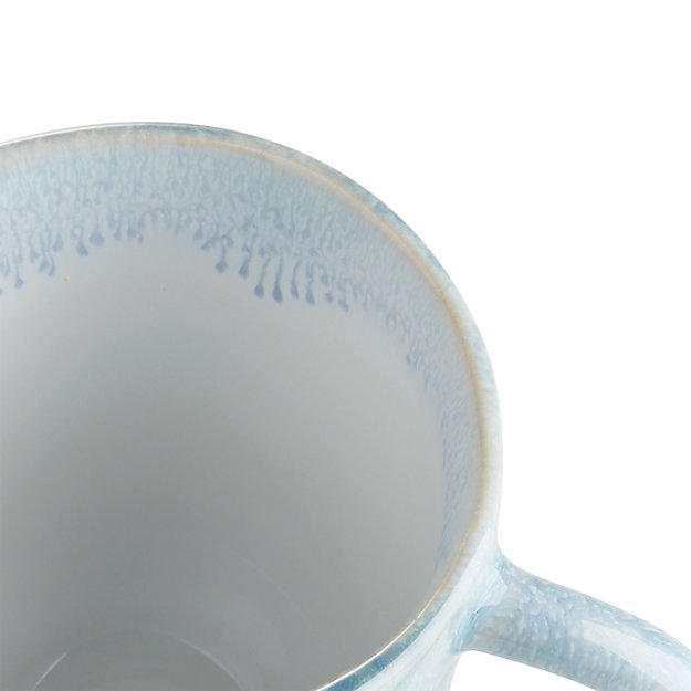 Caspian Blue Reactive Glaze Mug Crate And Barrel