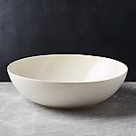 Caspian Cream Reactive Glaze Serving Bowl