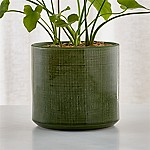 Cassia Green-Glazed Ceramic Planter