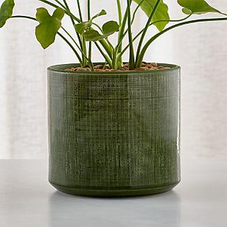 Cia Green Glazed Ceramic Planter