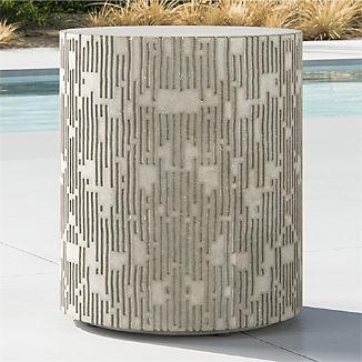 Cast Large Concrete End Table