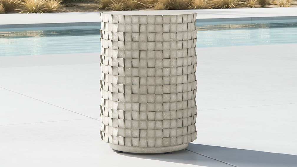 Cast Small Concrete End Table - Image 1 of 5