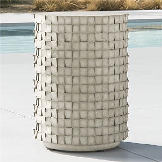 Cast Small Concrete End Table