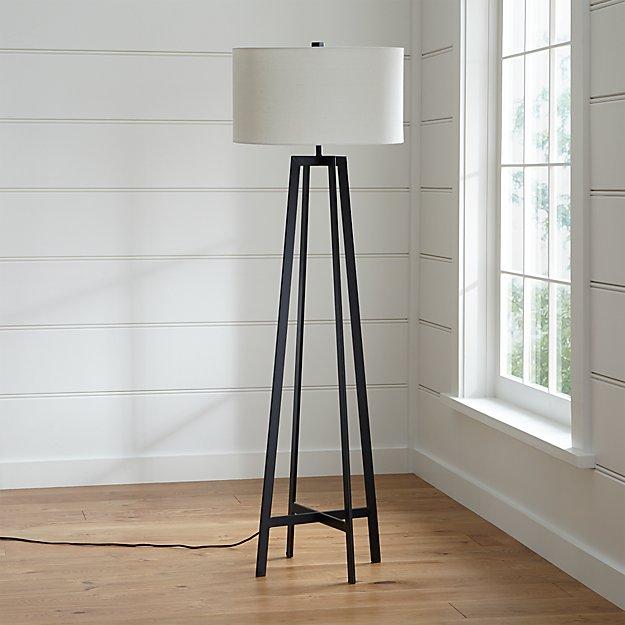 Crate and Barrel Exclusive. Castillo Black Floor Lamp - Castillo Black Floor Lamp Crate And Barrel