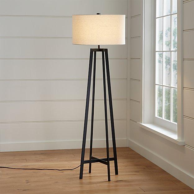 Castillo Black Floor Lamp In Floor Lamps Reviews Crate