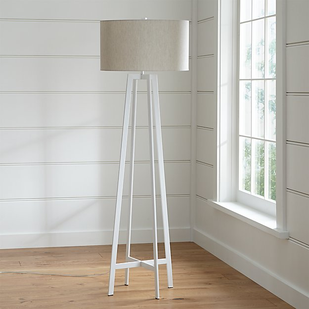 Castillo White Floor Lamp in Floor Lamps + Reviews | Crate and Barrel