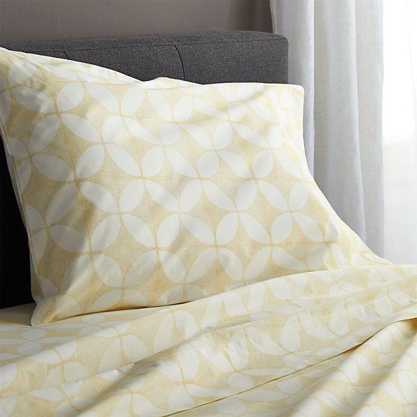 Cate Yellow Twin Sheet Set