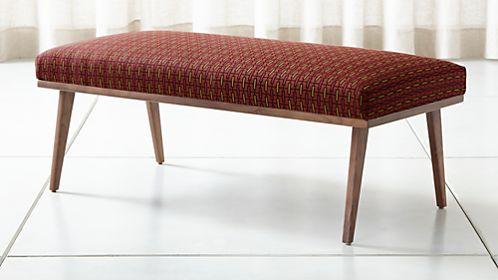Cavett Patterned Wood Frame Bench