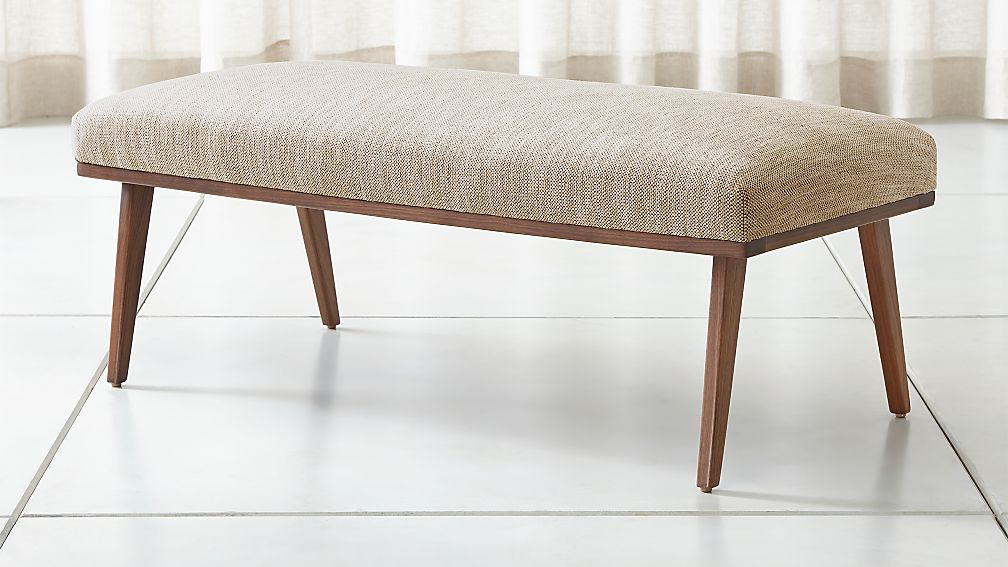 Cavett Wood Frame Bench + Reviews   Crate and Barrel