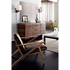 View product image Cavett Leather Wood Frame Chair - image 3 of 12