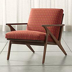 cavett patterned wood frame chair - Wood Frame Chair