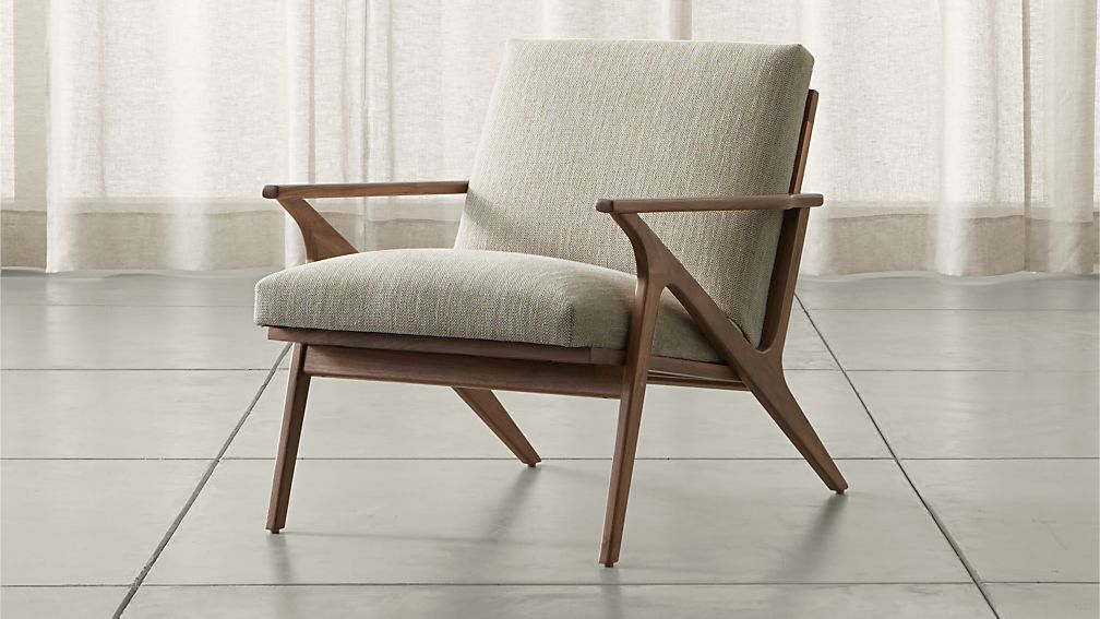 Cavett Wood Frame Chair + Reviews | Crate and Barrel
