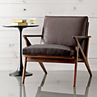 View product image Cavett Leather Wood Frame Chair - image 6 of 12