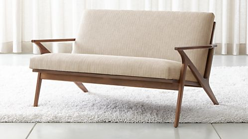 Cavett Wood Frame Loveseat