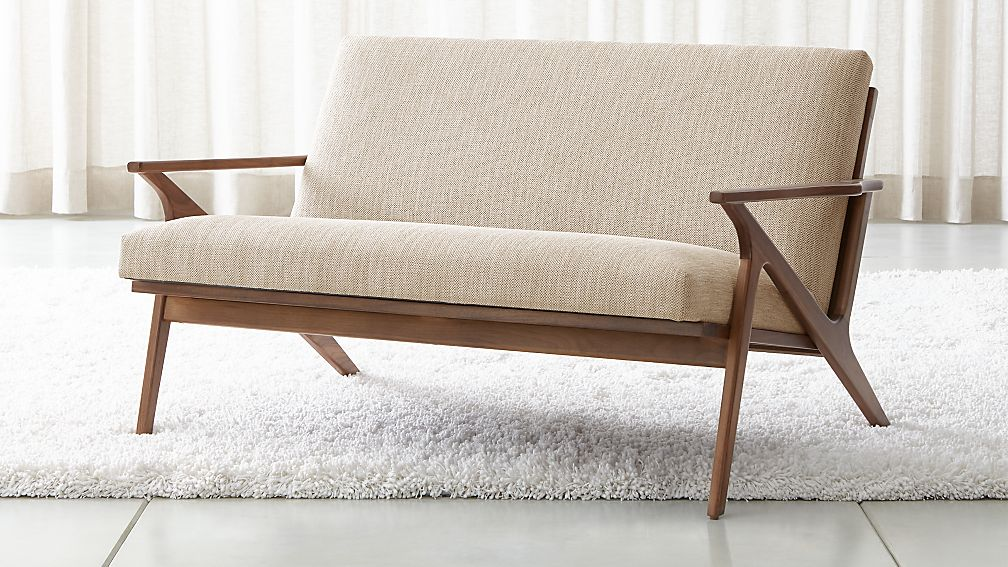 Cavett Mid Century Loveseat Reviews Crate And Barrel