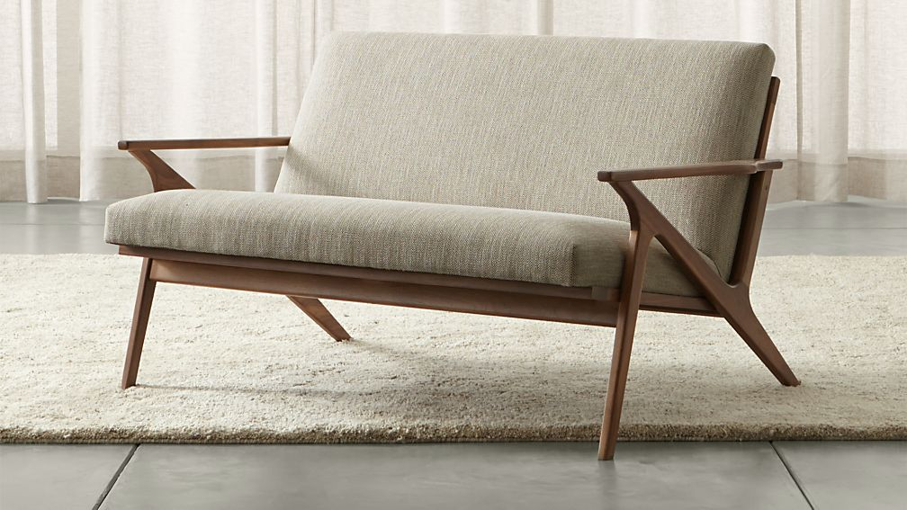 Cavett Mid-Century Loveseat + Reviews | Crate and Barrel