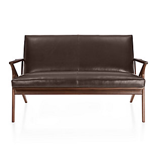 cavett leather wood frame loveseat - Wood Frame Loveseat