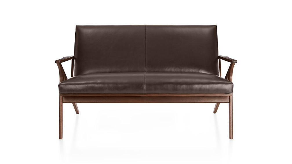 cavett loveseat leather cavett loveseat leather - Black Leather Loveseat