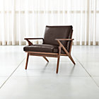 View product image Cavett Leather Wood Frame Chair - image 1 of 12