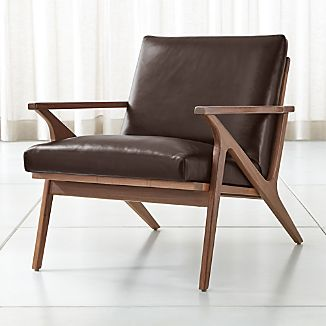 Leather Arm Chairs Crate And Barrel