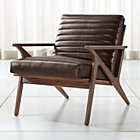 Cavett Leather Channel Chair
