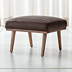 Cavett Leather Channel Ottoman